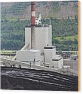 Coal Mine Electrical Energy Power Plant In Nature Wood Print