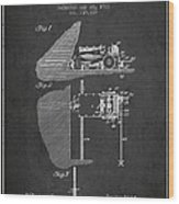 Coal Mining Machine Patent From 1903- Charcoal Wood Print