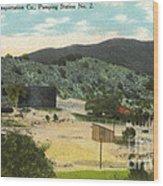 Coalinga Oil And Transportion Co. Pumping Station No. 2 Circa 1910 Wood Print
