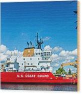 Coast Guard Cutter Mackinaw Wood Print