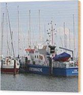 Coast Guard Maasholm Harbor Wood Print