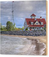 Coast Guard Station In Muskegon Wood Print