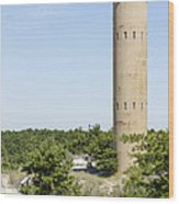 Wwii Coast Guard Tower At Cape Henlopen State Park In Delaware Wood Print