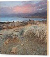coast of Crete 'I Wood Print
