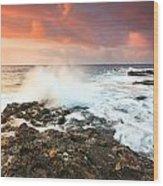 coast of Crete 'III Wood Print