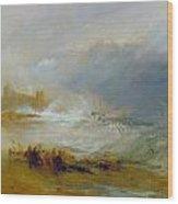 Coast Of Northumberland Wood Print