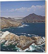 Coast Of Peru Wood Print