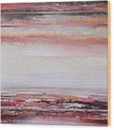 Coast Rhythms And Textures Red And Black 1 Wood Print