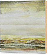 Coast Rhythms And Textures Yellow And Sepia 1  Wood Print by Mike   Bell