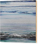 Coast Rhythms And Texturesblueand Silver 1 Wood Print