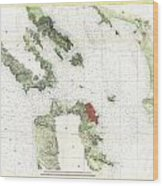 Coast Survey Map Of San Francisco Bay And City Wood Print