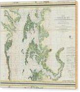 Coast Survey Map Of The Chesapeake Bay  Wood Print