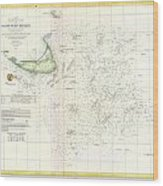 Coast Survey Nautical Chart Or Map Of Nantucket Massachusetts Wood Print