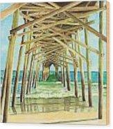 Coastal Cathedral  Wood Print