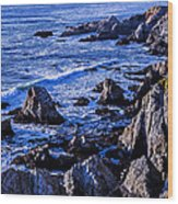 Coastal Cliffs Wood Print
