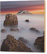 Coastal Glory Wood Print