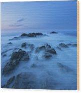 Coastal Landscape At Trollskjeran Wood Print