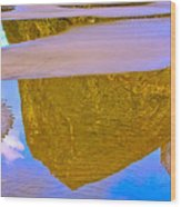 Coastal Landscape In Abstract 2 Wood Print