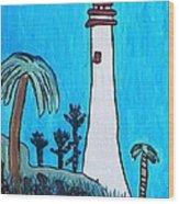Coastal Lighthouse Wood Print