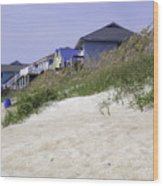Coastal Living In Topsail Beach Nc Wood Print