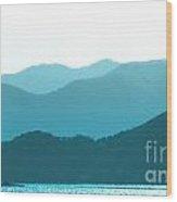 Coastal Mountains II Wood Print