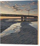 Coastal Ponds And Bridge II Wood Print