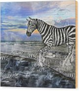 Coastal Stripes I Wood Print by Betsy Knapp
