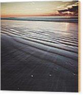Coastal Sunrise Seascape Contemporary Relaxing Wall Art On Canvas Prints Wood Print