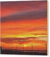 Coastal Sunset Wood Print