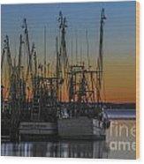 Coastal Sunset Wood Print