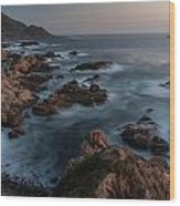 Coastal Tranquility Wood Print by Mike Reid