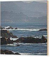 Coastal View - Big Sur II Wood Print