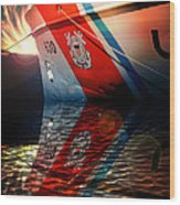 Coast Guard Uscg Alert Wmec-630 Wood Print by Aaron Berg