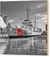 Coastguard Cutter Wood Print