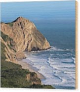 Coastline At Point Reyes National Sea Wood Print