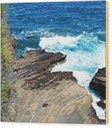 Coastline Splendor Wood Print