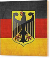 Coat Of Arms And Flag Of Germany Wood Print