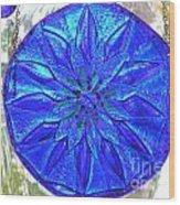 Cobalt Mandala  Wood Print