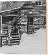 Slayton Pasture Cobber Cabin Trapp Family Lodge Stowe Vermont Wood Print