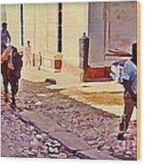 Cobble Stone Streets Of Cuba Wood Print