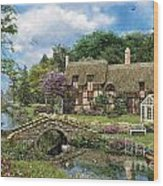 Cobble Walk Cottage Wood Print