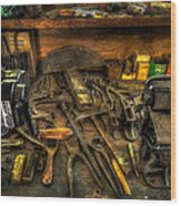 Cobblers Workbench Wood Print