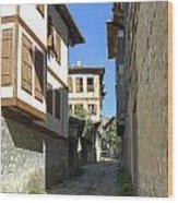 Cobblestone Village Street Wood Print