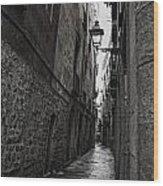 Cobblestones Of Barca Wood Print