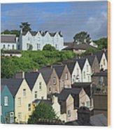 Cobh Town Houses Wood Print