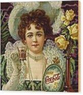 Coca Cola 5 Cents Wood Print
