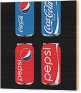 Coca Cola And Pepsi Wood Print