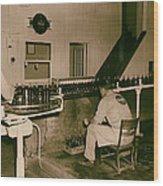 Coca Cola Bottling Line 1950s Wood Print