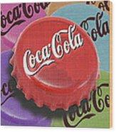 Coca-cola Cap Wood Print by Tony Rubino