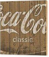 Coca Cola Classic Barn Wood Print